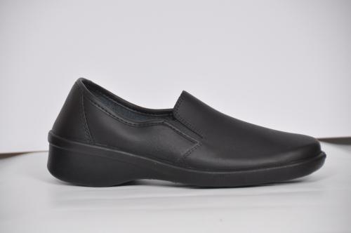 Рабочие туфли женские кожаные 02-11 (Черные) #1