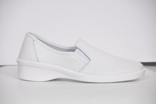 Туфлі медичні жіночі шкіряні 02-11 (Білі) #1