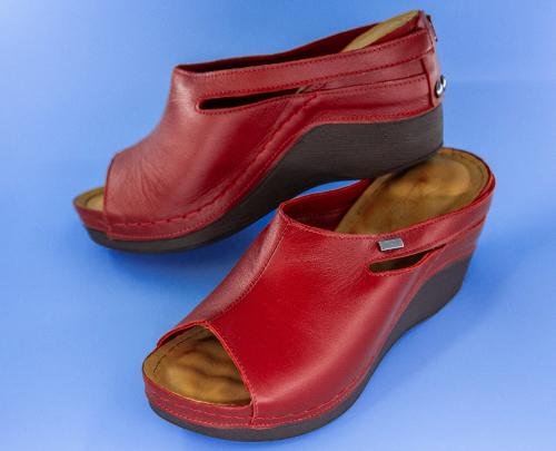 Сабо женские Izdiri 1001 (Красные) #5