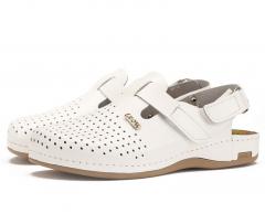 Сабо мужские медицинские Leon 701 (Белые)