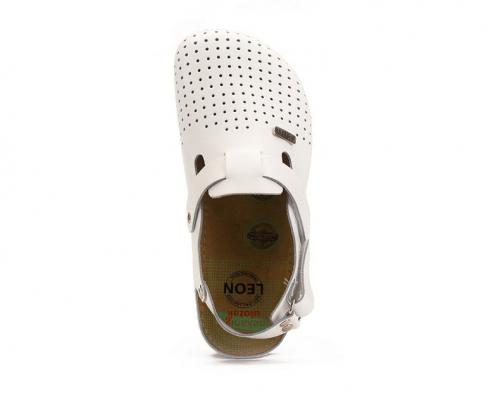 Сабо мужские медицинские Leon 701 (Белые) #2