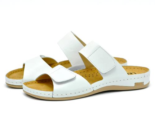 Сабо женские Leon 952 (Белые) #1