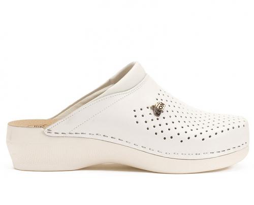 Сабо женские медицинские Leon PU100 (Белые) #2
