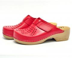 Сабо женские медицинские Leon PU161 (Красные)