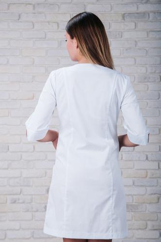 Женский медицинский халат 103 (Красно-серый) #3