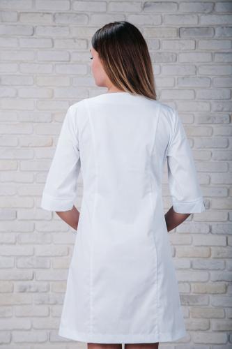 Женский медицинский халат 103 (Красно-серый) #6