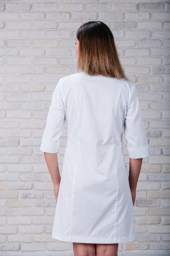 Женский медицинский халат 103 (Сине-голубой) #4