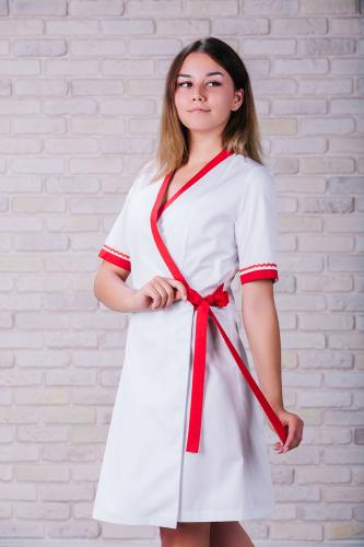 Женский медицинский халат 101 (Красный) #1