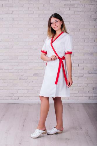 Женский медицинский халат 101 (Красный) #2