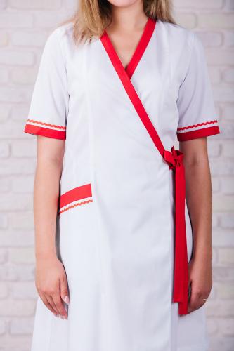 Женский медицинский халат 101 (Красный) #3