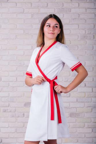 Женский медицинский халат 101 (Красный) #6