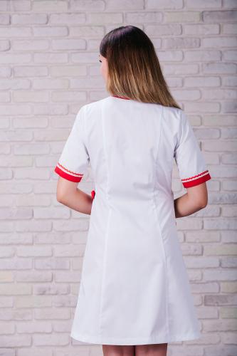 Женский медицинский халат 101 (Красный) #8