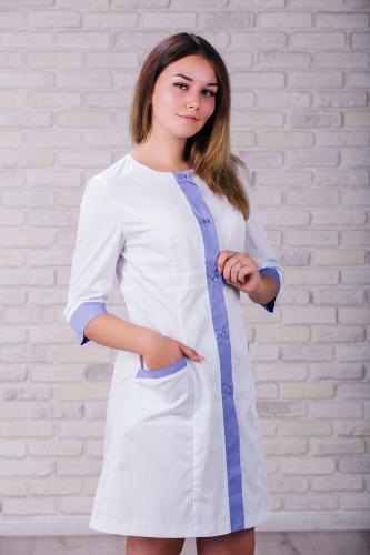 Женский медицинский халат 104 (Лиловый) #1
