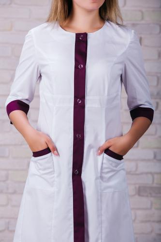 Женский медицинский халат 104 (Фиолетовый) #6