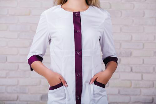 Женский медицинский халат 104 (Фиолетовый) #3