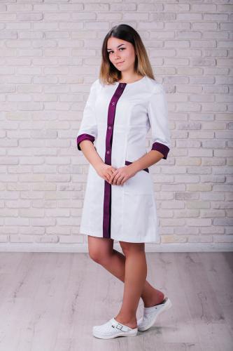 Женский медицинский халат 104 (Фиолетовый) #5