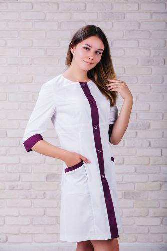 Женский медицинский халат 104 (Фиолетовый) #1