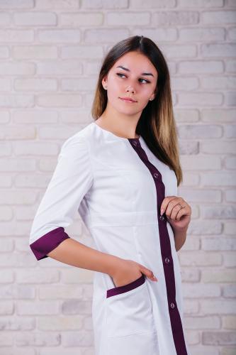 Женский медицинский халат 104 (Фиолетовый) #4