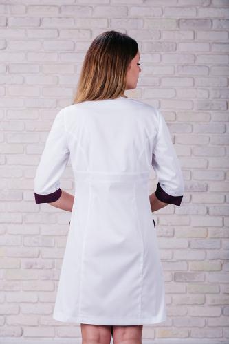 Женский медицинский халат 104 (Фиолетовый) #2