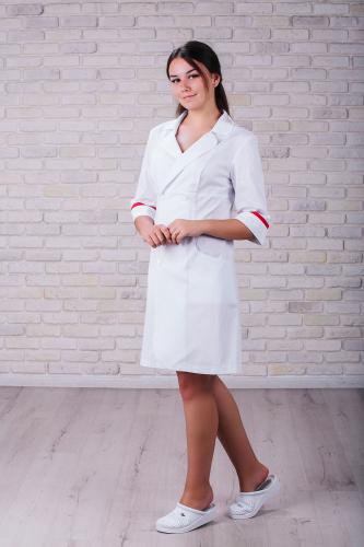 Женский медицинский халат 105 (Красный) #3