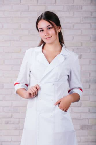 Женский медицинский халат 105 (Красный) #2