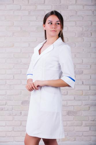 Женский медицинский халат 105 (Синий) #2