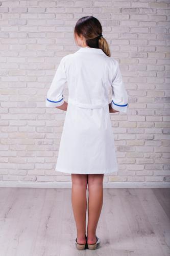 Женский медицинский халат 105 (Синий) #4