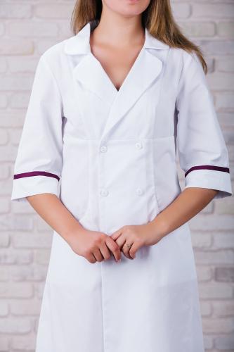 Женский медицинский халат 105 (Фиолетовый) #6