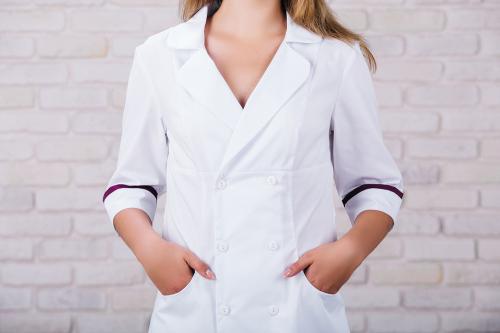 Женский медицинский халат 105 (Фиолетовый) #2