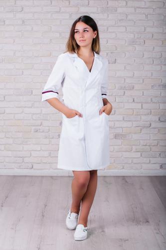 Женский медицинский халат 105 (Фиолетовый) #5