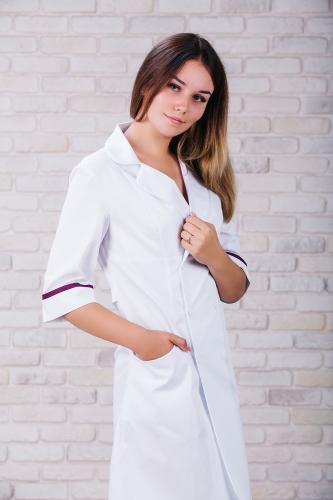 Женский медицинский халат 105 (Фиолетовый) #3