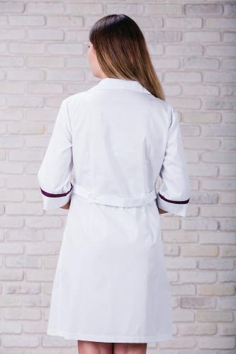 Женский медицинский халат 105 (Фиолетовый) #4