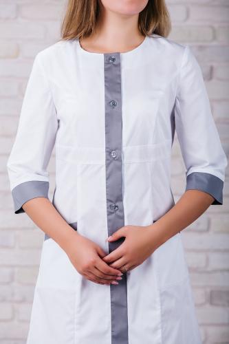 Женский медицинский халат 104 (Серый) #4