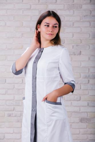 Женский медицинский халат 104 (Серый) #5