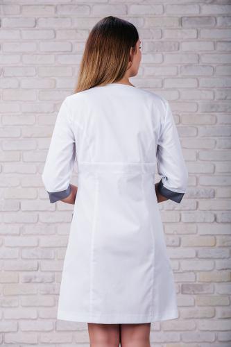 Женский медицинский халат 104 (Серый) #6