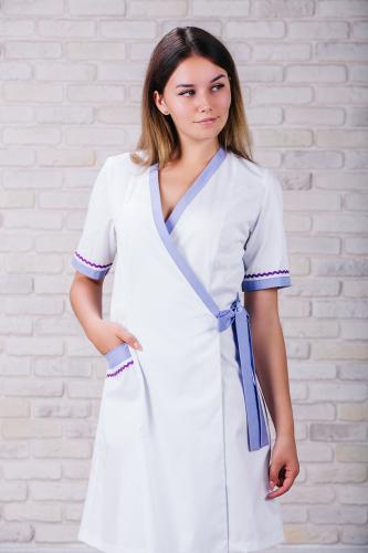Женский медицинский халат 101 (Лиловый) #4