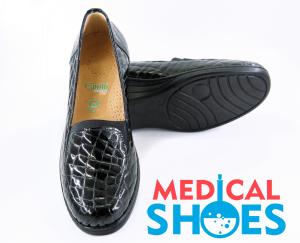 Жіночі ортопедичні туфлі Canilh 791 (Чорні)