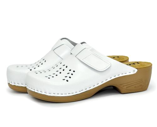 Сабо женские медицинские Leon PU161 (Белые) #1
