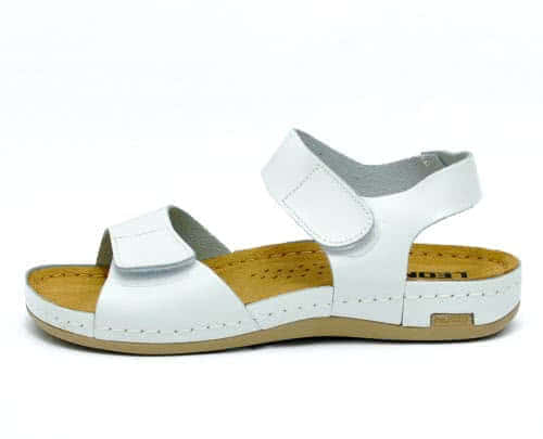 Сабо женские Leon 963 (Белые) #1