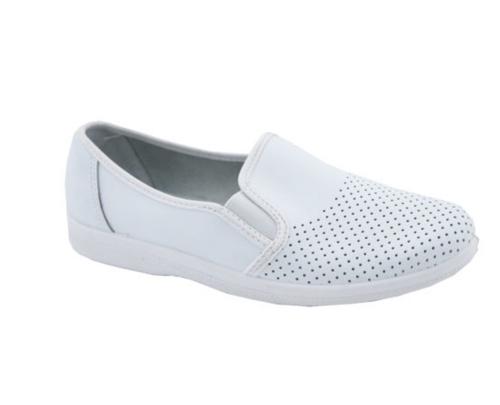 Туфлі робочі чоловічі шкіряні 53-05 (Білі) #1