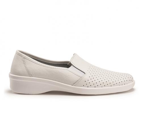 Туфли медицинские женские кожаные Теллус 02-12 (Белые) #1