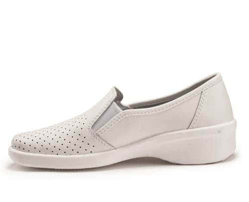 Робочі туфлі жіночі шкіряні 02-12 (Білі) #2